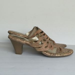 """Euro Soft by Sofft """"Maya"""" Leather Cork Sandals"""